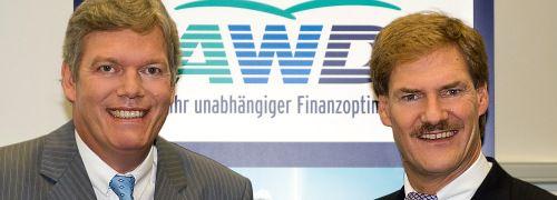 AWD-Chef Manfred Behrens und der mittlerweile <br> ausgeschiedene Gr&uuml;nder Carsten Maschmeyer