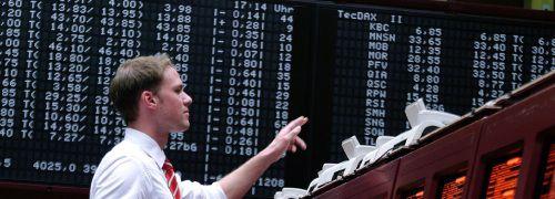 Händler an der Frankfurter Börse: <br> Im März 2000 noch ein Traumberuf; <br> Quelle: Fotolia