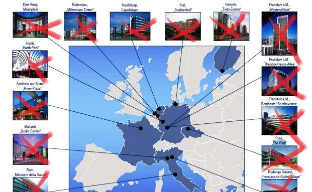 Degi Europa: Alles muss raus. Insgesamt 14 Objekte in sechs<br/>L&auml;ndern wurden ver&auml;u&szlig;ert bzw. stehen zum Verkauf.