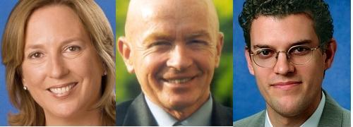 Templeton-Experten Cindy Sweeting, <br> Mark Mobius, Michael Hasenstab (von links)