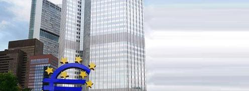 Der Eurotower in Frankfurt, Sitz der EZB <br> Quelle: Wikipedia
