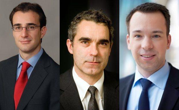 Fabio Riccelli, Alexander Scurlock, Christian <br> von Engelbrechten (v. li.)