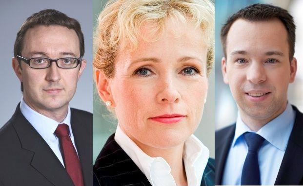 Matt Siddle, Alexandra Hartmann, Christian von Engelbrechten (v. li.)