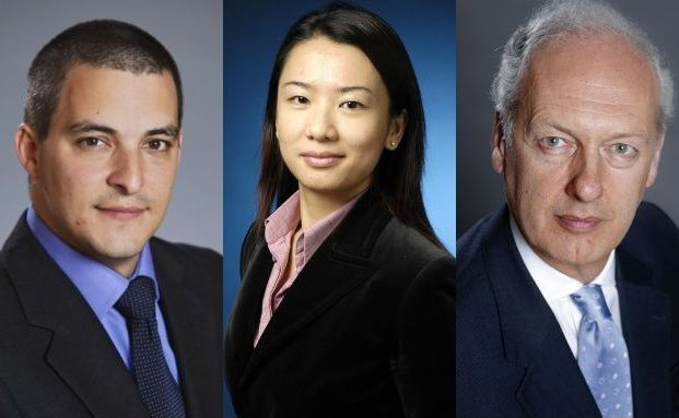 Angel Ortiz, Polly Kwan, Anthony Bolton (v. li)
