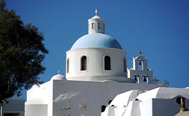 Eine griechische Kirche. <br> E-Bonds helfen den Krisenl&auml;ndern wie Griechenland und Irland nicht, <br> meint Andreas Rees; Quelle: Fotolia