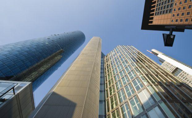 Wolkenkratzer in Frankfurt; <br> Quelle: Deutsche Bank