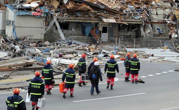 Aufräumarbeiten in Japan. Quelle: Gettyimages