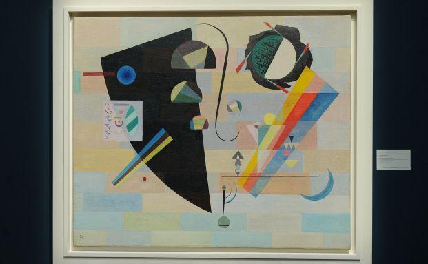 """Das Gemälde """"Krass und Mild"""" von Wassily Kandinsky. Indizes, <br> die sich auf illiquide Werte wie Kunstgegenstände beziehen, <br> können nicht nachgebildet werden. Quelle: AFP"""