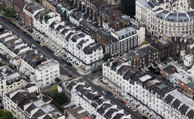 Blick auf Knightsbridge in London: Die Preise für Häuser und Wohnungen in der Metropole sinken. Foto: Getty Images