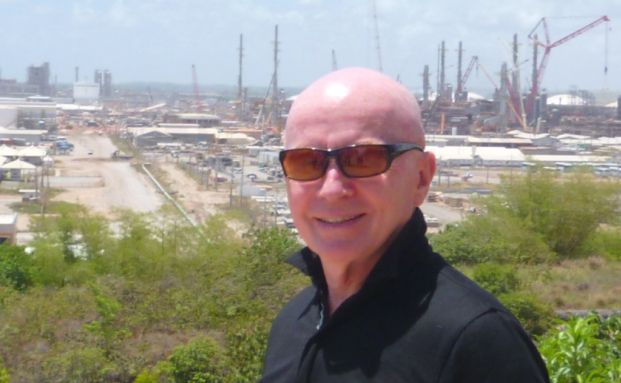 Mark Mobius auf einer Baustelle im brasilianischen Recife