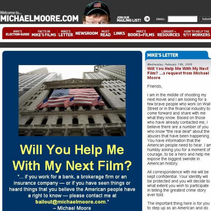 : Michael Moore attackiert Wall Street