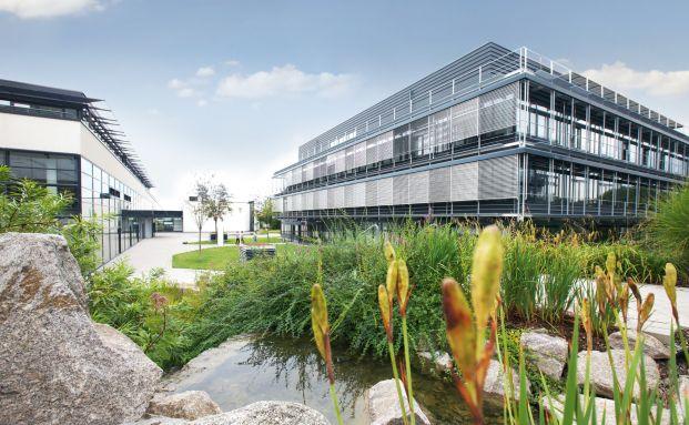 Das MLP-Gebäude im baden-württembergischen Wiesloch
