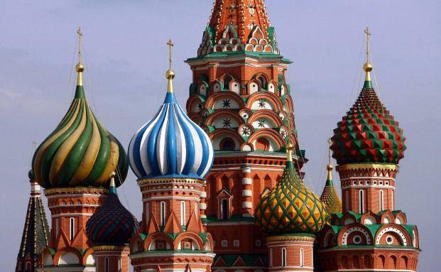 Kathedrale von St. Basil in der russischen Hauptstadt Moskau.