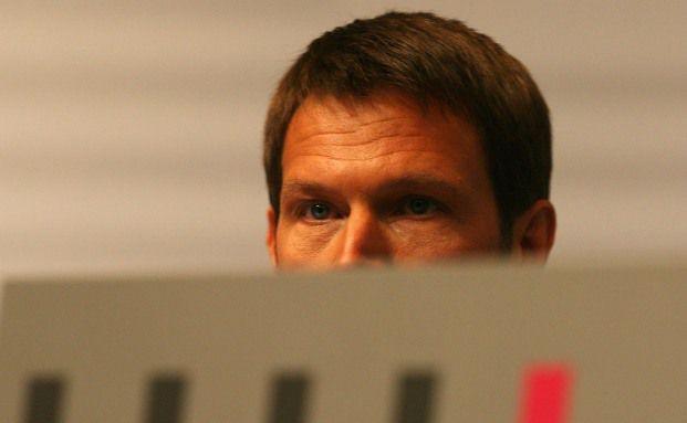 Telekom-Chef René Obermann bei einer Aktion&auml;rsversammlung. <br> Das Unternehmen geh&ouml;rt zu den Firmen mit den h&ouml;chsten <br> Dividendenrenditen Deutschlands. <br> Quelle: Getty Images