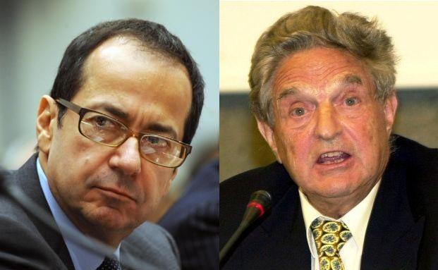 John Paulson (li.) und George Soros verkaufen ihre <br> Gold-ETFs