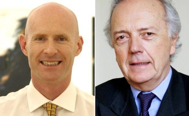 Der Sieger und der Verlierer im Verkaufs-Wettstreit: <br> Ethna Aktiv E-Manager Luca Pesarini und Edouard <br> Carmignac (v. li.)