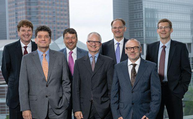 Die Teilnehmer an der Diskussionsrunde (von links): Jürgen Jann, Alexander Lehmann, Klaus-Dieter Erdmann, Dirk Söhnholz, Lars Rothe, Michael Jensen, Gunther Westen (Foto: Uwe Nölke)