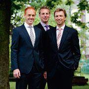 René Stadtm&uuml;ller, Christoph Runte <br>und Stefan M&ouml;nkediek (von links)