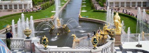 Peterhof bei St. Petersburg, Russland <br> Osteuropa-Fonds legten im vergangenen Jahr <br> um bis zu 150 Prozent zu; Quelle: Pixelio