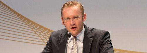 Eckhard Sauren bei der diesj&auml;hrigen <br> Preisverleihung; Quelle: Sauren