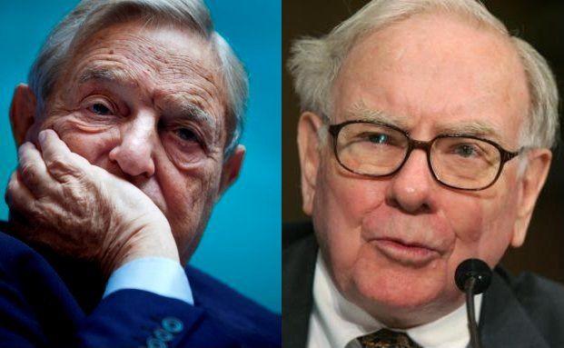Star-Investoren George Soros (li.) und Warren Buffett