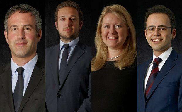 v.l.n.r.: Dennis Bergot, Philippe Secnazi, Gemma Steel, Faisal El-Hakim