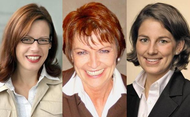 Constanze Hintze, Anne M. Schüller, Christiane Froböse (v. li.)