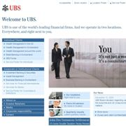 Screenshot der UBS-Website