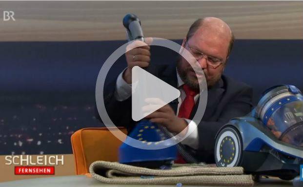 Ein Mann fürs Grobe: Helmut Schleich parodiert EU-Parlamentspräsident Martin Schulz