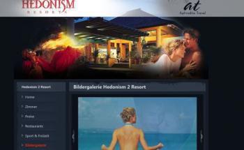 Screenshot der Hotel-Homepage: Nach Angaben der Reiseteilnehmer schließt das All-inclusive-Angebot auch erotische Veranstaltungen mit ein