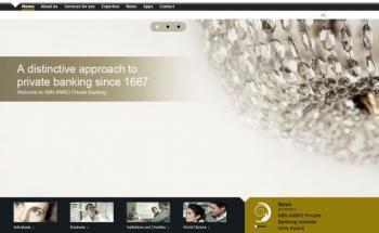 Screenshot der Sieger-Website ABN Amro Private Banking