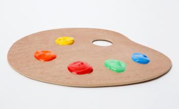 Wie bei dieser Mischpalette mit Acrylfarbe stehen den Fondsmanagern verschiedene Anlageklassen zur Wahl. Foto: Tim Reckmann  / pixelio.de