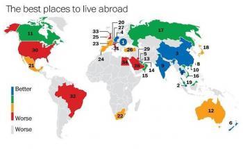 Hier lebt es sich als reicher Auswanderer am besten. (Quelle: HSBC/The Washington Post)