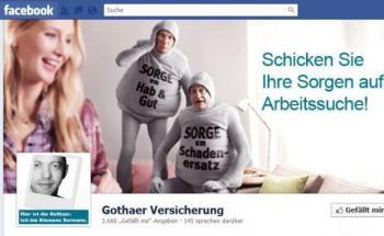 Screenshot der Facebook-Seite von der Gothaer