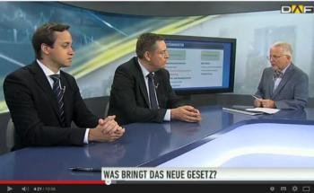 Dieter Rauch, Geschäftsführer vom Verbund Deutscher Honorarberater (VDH), und Thomas Wiedenmann vom ETF-Anbieter iShares im Gespräch mit dem Deutschen Anleger Fernsehen. (DAF(Quelle: Youtube)