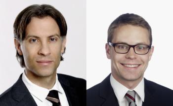 Andreas Dietrich, Leiter des Kompetenzzentrums Financial Services Management am Institut für Finanzdienstleistungen Zug, und Simon Amrein, Wissenschaftlicher Mitarbeiter