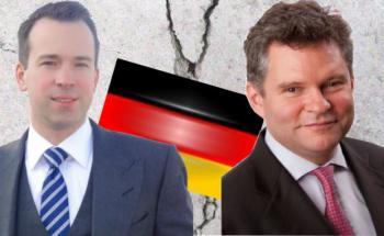 Martin Wirth, Manager des FPM Stockpicker Germany All Cap (rechts), argumentiert gegen Christian von Engelbrechten, Manager des Fidelity Germany Fund
