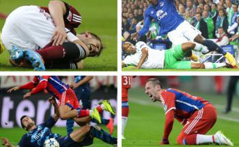 Beim Fußball werden immer wieder verletzte Profisportler aus dem Spiel genommen - manch einer für immer. Fotos: Getty Images