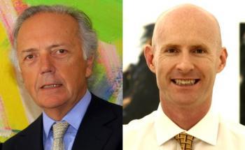 Edouard Carmignac (li.), Manager des legendären Mischfonds <br> Carmignac Patrimoine und Luca Pesarini, der den Ethna Aktiv E <br> verantwortet. Beide Erfolgsprodukte sind im <br> MMD Mandat Ausgewogen enthalten.