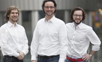 Haben noch keinen Versicherungspartner für ihr Riester-Produkt: Fairr-Gründer Ambros Gleißner, Jens Jennissen und Alexander Kihm (von links)