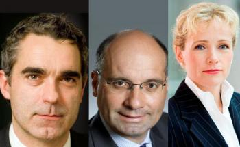 Fidelity-Fondsmanager Alexander Scurlock, Firmino Morgado<br>und Alexandra Hartmann (v.l.)