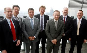 Die Roundtable-Teilnehmer (v.li.): Thomas Polach, Markus <br>Sievers, Klaus-Dieter Erdmann, Tom Wede, Eckhard Sauren,<br>Günther Kastner und Michael Geier (Fotos: Jo Schwartz).