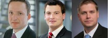 Bernd Maisch, Manager des <br> LBBW Dividenden Strategie Euroland; <br> Thomas Rademacher und Andreas Helmrich, <br> BWI-Rent-D-Manager (von links)