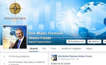 Screenshot der Facebook-Seite des Dirk Müller Premium Aktien Fonds