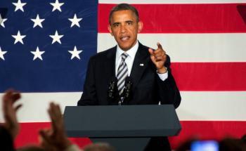 US-Präsident Barack Obama: Fasst die amerikanische Wirtschaft weiter Tritt, steigen seine Chancen, im November wiedergewählt zu werden. Foto: Getty Images
