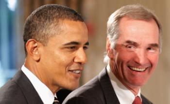 Präsident Obama und David Swensen Quelle: Getty Images