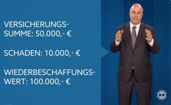 Was leistet eine Hausratsversicherung und was passiert im Schadensfall? Das erläutert Mr. Moneypenny in seinem Video. Bild: Screenshot Youtube-Video.
