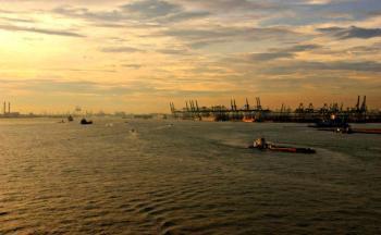 Der Hafen von Singapur (Foto: Katharina Wieland)