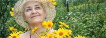 Rentnerin im Blumenglück