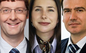 Schroders Multi-Asset-Portfoliomanager Urs Duss, Johanna Kyrklund und Aymeric Forest